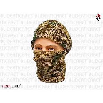 Commando Scarf [ Fileli ] Desert Renk Çöl Dijital (K.K.K. Ýçin)