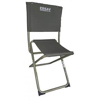 Kamp ve Balýk Ýçin Haki Renk Sandalye Tabure Hem Sandalye Hem Tabure