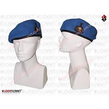 Jandarma Asayiþ Komando Beresi Subay Mavi Renk Armalý