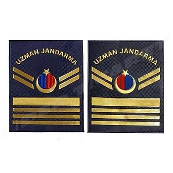 Yeni Jandarma Asayiþ Uzman Jandarma 7.Kademeli  Plastik Rütbe Lacivert Renk