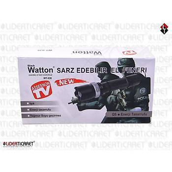 Black Watton WT-038 Þarj Edilebilir El Feneri