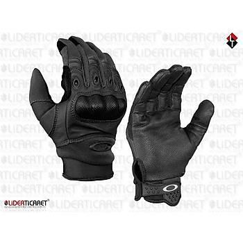 Tactical Parmak Eldiven Siyah Renk Kemikli