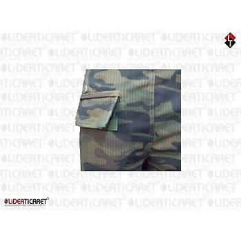 Polis Özel Harekat  Kamuflaj Tek Alt Yazlýk Pantolon Eski Renk