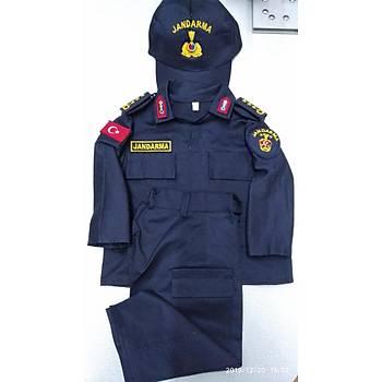 Jandarma Asayiþ Çocuk Elbisesi Lacivert Renk Özel Üretim Sýnýrlý Stok