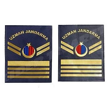 Yeni Jandarma Asayiþ Uzman Jandarma 8.Kademeli  Plastik Rütbe Lacivert Renk