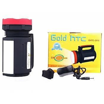 Gold Silver HTC GHTC-2016 El Feneri Projektör 20 Saat Kesintisiz Yanar