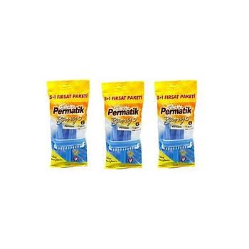 Gillette Permatik Banyo Tek 5+1 x 3 Fýrsat paketi