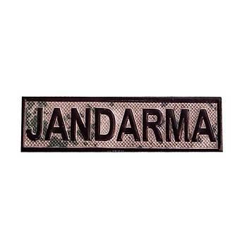 Jandarma PVC Asayiþ Kamuflaj Jandarma Yazýsý Cýrtlý