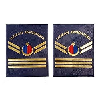 Yeni Jandarma Asayiþ Uzman Jandarma 3.Kademeli  Plastik Rütbe Lacivert Renk