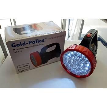 Gold-Police 625 El Projektörü 6 El Feneri Þarjlý Karanlýktaki Aydýnlýðýnýz