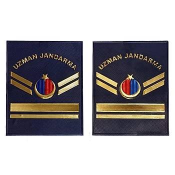 Yeni Jandarma Asayiþ Uzman Jandarma 5.Kademeli  Plastik Rütbe Lacivert Renk