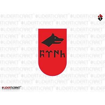Sticker Þarjör Kapaðý Göktükçe Türk Yazýlý Kurt Logo ( 3 Adet )