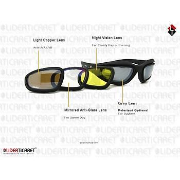 Daisy 4 Lens Polarize Deðiþebilir Taktik Gözlük