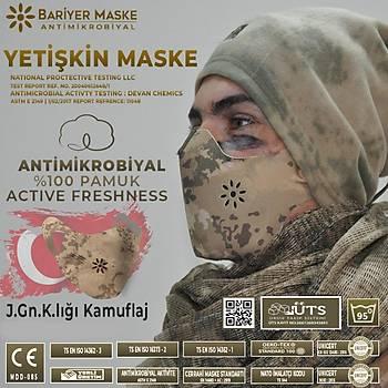 Antimikrobiyal Maske Jandarma Kamuflaj Renk Yetiþkin