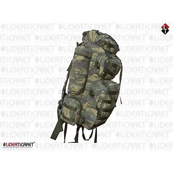 Military Combat Bag 100 + 10 Lt Nano Camo Sýrt Çantasý