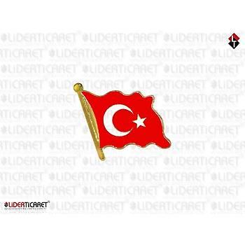 Rozet Dalgalanan Türk Bayraðý