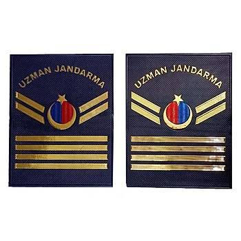 Yeni Jandarma Asayiþ Uzman Jandarma 4.Kademeli  Plastik Rütbe Lacivert Renk
