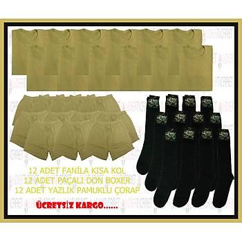 Asker Çamaþýr ve Siyah Çorap Set 2