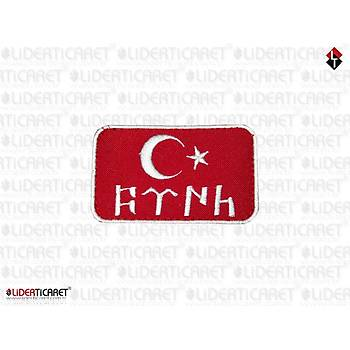 Türk Bayraðý Göktürkçe Türk Yazýsý Cýrtlý Peç