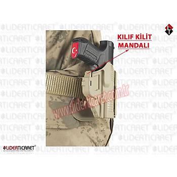 UNICORN ROBOCOP Kilitli Silah Kýlýfý Kum Rengi Sar 9 ve Canik TP9 SF ( Yeni Model )