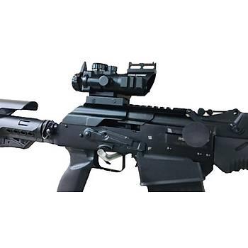 ASG STRIKE SYSTEM 4x32 Kýrmýzý / YEÞÝL Nokta Atýþlý Fiber Gezli Optik Hedef Niþanlayýcý Tüfek Dürbünü (M16-HK33-AK47 )iÇÝN