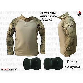 Jandarma Asayiþ Kamuflaj Termal Combat Operasyon Taktik Tiþörtü Dirsek Koruyuculu