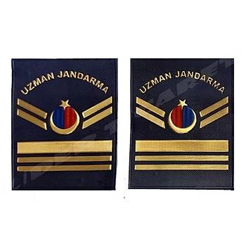 Yeni Jandarma Asayiþ Uzman Jandarma 6.Kademeli  Plastik Rütbe Lacivert Renk