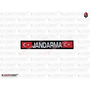 '' JANDARMA '' Yazýlý Bacak Kýlýfý Yazýsý Siyah Renk