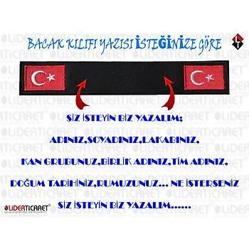 Bacak Kýlýfý Yazýsý '' SÝZ ÝSTEYÝN BÝZ YAZALIM '' Siyah Renk Bayraklý