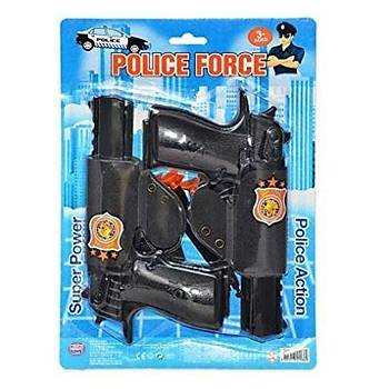 Ok Atan Oyuncak Tabanca Seti Polis Force