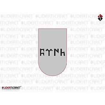 Sticker Þarjör Kapaðý Göktükçe Türk Yazýlý Beyaz ( 3 Adet )