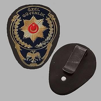Özel Güvenlik Maþalý Bel Rozeti Yeni Model Renk; Sarý & Lacivert