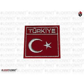 Bayraklý Türkiye Armasý/Peç Kare Cýrtlý