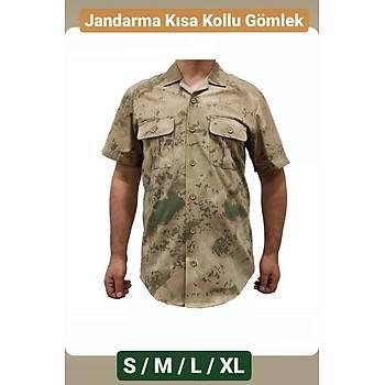 Jandarma Kumaflaj Gömlek Kýsa Kol Yazlýk