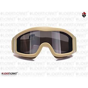 ESS Striker Series Vehicle Ops Military Tactical Goggles Balistik Gözlük Kum Rengi