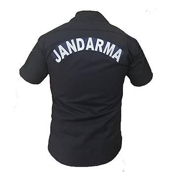 Jandarma  Asayiþ Gömleði Kýsa Kol Lacivert Renk Atmaz(Koyu Lacivert)