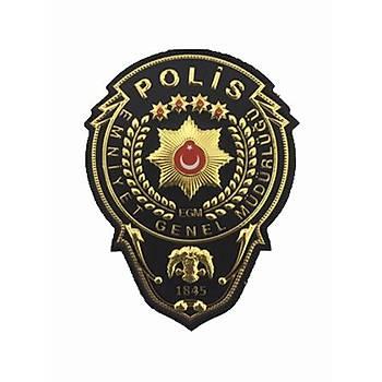 Çevik Kuvvet Polis Müdür Göðüs Armasý Siyah Renk Termoplastik Yeni Model