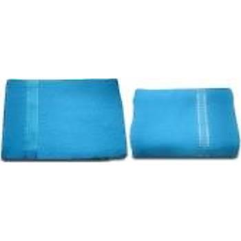 Havlu Takýmý ( Banyo ve Yüz Havlusu ) Mavi Renk