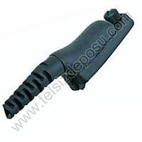 J-Tech Motorola DP3400 Digital Telsiz için Ten Rengi Kalýn PTT Akustik Kulaklýk Mikrofon 158G-M7