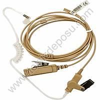 J-Tech Motorola TLKR-T5, T5022 Ten Rengi Kalýn PTT Akustik Kulaklýk Mikrofon 158G-M6
