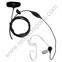 J-Tech Motorola GP344 Parmak PTT ve Akustik Kulaklýk VOX Mikrofon 155V-M5