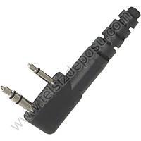 J-Tech Wouxun KG-UVD1P Ten Rengi Kalýn PTT Akustik Kulaklýk Mikrofon 158G-K1W