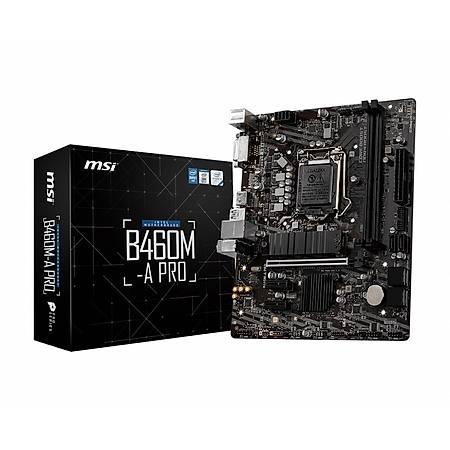 MSI B460M-A PRO DDR4 2933MHz DVI HDMI M.2 USB 3.2 mATX 1200p