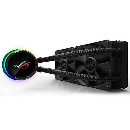 ASUS ROG RYUO 240 OLED AURA SYNC RGB 2x120mm Ýþlemci Sývý Soðutucu