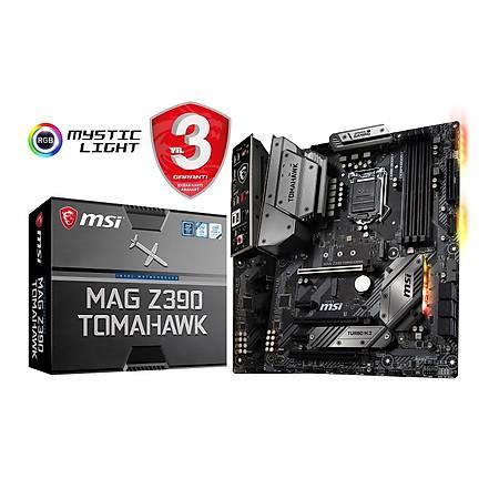 MSI MAG Z390 TOMAHAWK DDR4 4400MHz (OC) HDMI DP M.2 USB3.1 RGB ATX 1151p