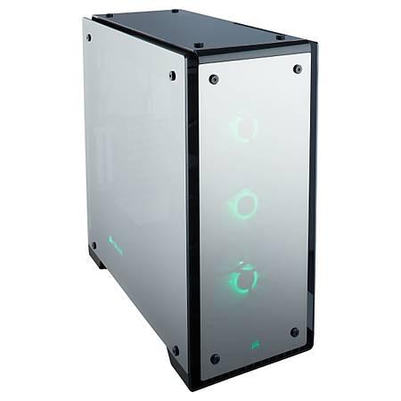 Corsair Crystal 570X RGB Mirror Black Temperli Cam Premium ATX MidTower Kasa PSU Yok