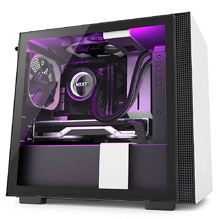 NZXT H210i RGB Temperli Cam Mini-ITX MiniTower Kasa PSU Yok