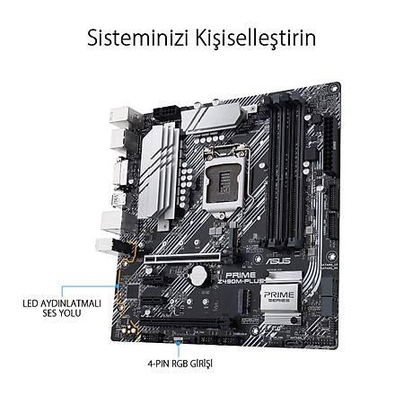 ASUS PRIME Z490M-Plus DDR4 4400MHz (OC) DVI HDMI DP RGB mATX 1200p