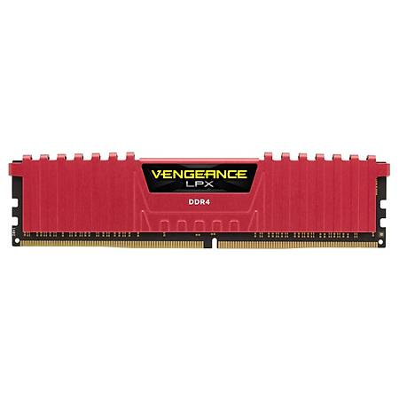 Corsair Vengeance LPX 16GB (2x8GB) DDR4 2400MHz CL14 Kýrmýzý Soðutuculu Dual Kit Ram