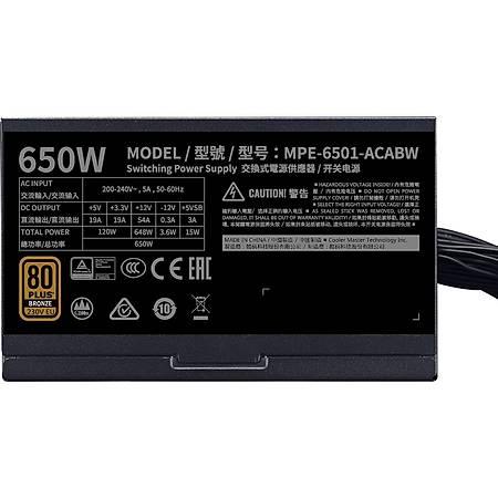 Cooler Master MWE V2 650W 80+ Bronze APFC 12cm Fanlý Power Supply